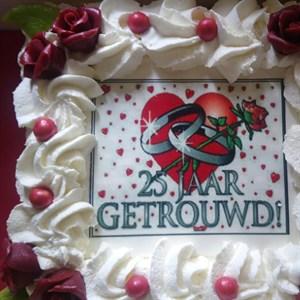 Onwijs Taart 25 jaar getrouwd TS-97